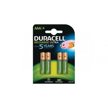 Mini Stilo AAA Confezione da 4 pile  Rechargeable Duracell 850 mAh