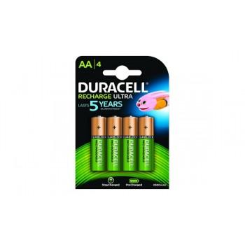 Stilo AA Confezione da 4 pile Rechargeable Duracell 2500 mAh