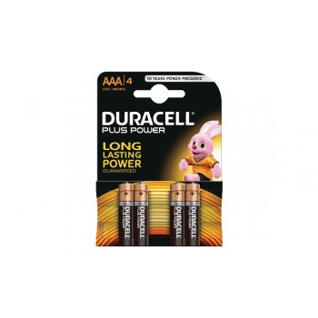 Mini Stilo AAA Confezione da 4 pile Duracell Plus Power