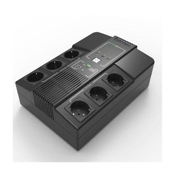 UPS monofase multipresa filtrata con display 1000VA 600W + USB + USB Charger