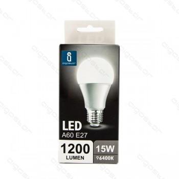 Lampada led A5 A60 E27 15W luce fredda