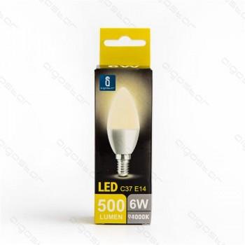 Lampada led A5 C37 E14 6W luce naturale