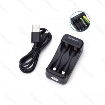 Caricabatteria universale 2 pile NiMH AA e AAA Aigostar USB Smart