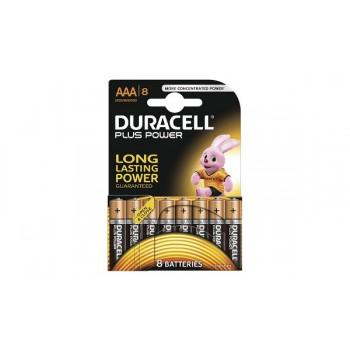 Mini Stilo AAA Confezione da 8 pile Duracell Plus Power