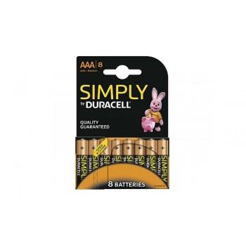 Mini Stilo AAA Confezione da 8 pile Duracell Symply
