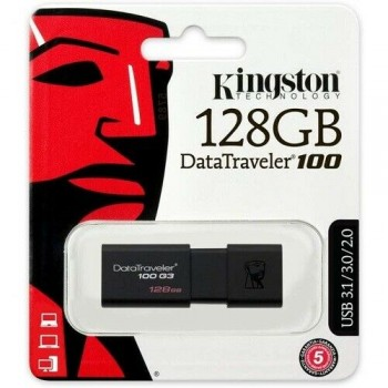 128GB USB 3.0 Flash Memory Drive Kingston DT100G3