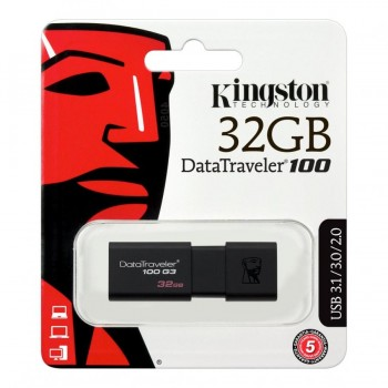 32GB USB 3.0 Flash Memory Drive Kingston DT100G3