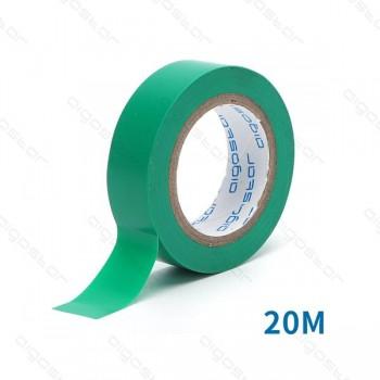 Nastro isolante PVC 0.13*17*20M  GREEN
