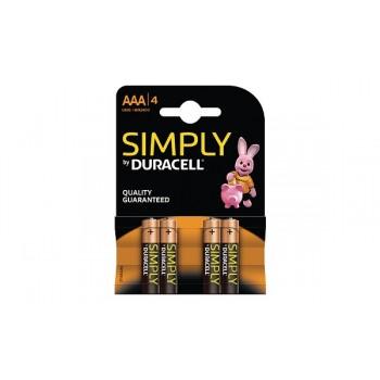 Mini Stilo AAA Confezione da 4 pile Duracell Simply