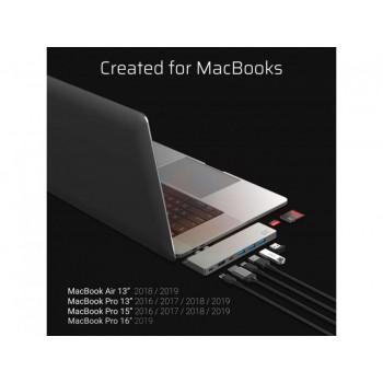 Docking Station HUB 8in1 (Thunderbolt 3, USB-C, HDMI, 3x USB 3.0) per Apple MacBook Air 2018, Pro 2016 e successivi