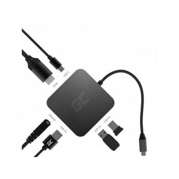 Docking Station HUB USB-C 6in1 (USB 3.0 HDMI Ethernet USB-C) per Apple MacBook, Dell XPS, Asus ZenBook e altri